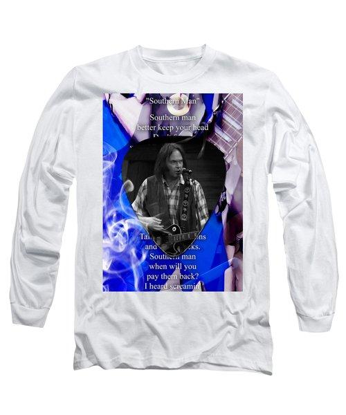 Neil Young Art Long Sleeve T-Shirt