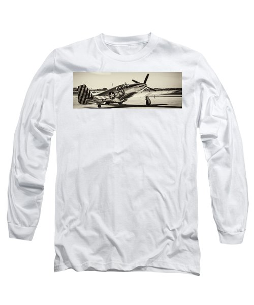 P51 Mustang Long Sleeve T-Shirt by Chris Smith
