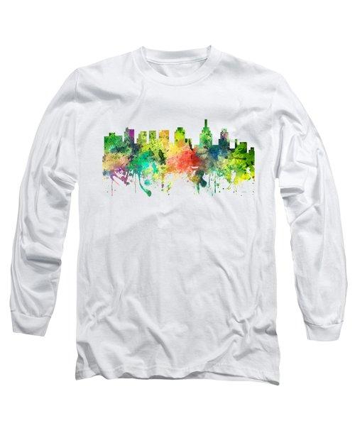 Philadelphia Pennsylvania Skyline Long Sleeve T-Shirt by Marlene Watson