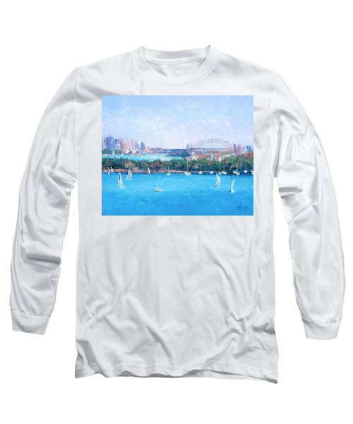 Sydney Harbour And The Opera House By Jan Matson Long Sleeve T-Shirt