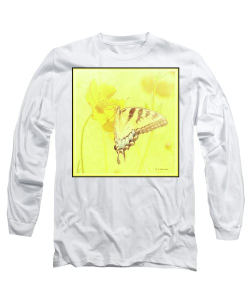 Tiger Swallowtail Butterfly On Cosmos Flower Long Sleeve T-Shirt