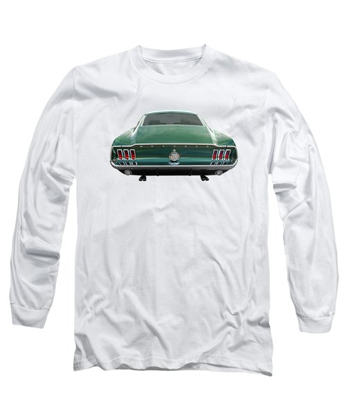 67 Mustang Fastback Rear Long Sleeve T-Shirt