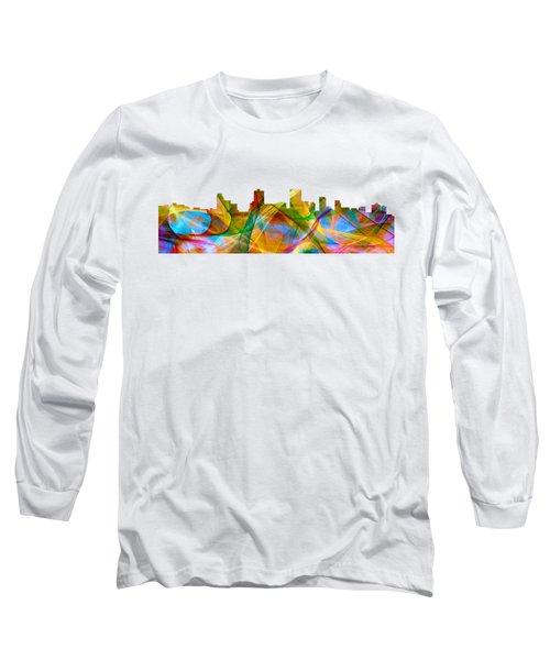 Anchorage Alaska Skyline Long Sleeve T-Shirt