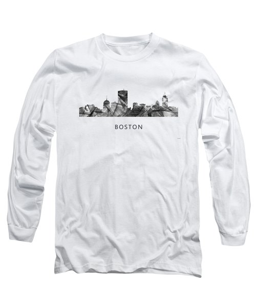 Boston Massachusetts Skyline Long Sleeve T-Shirt