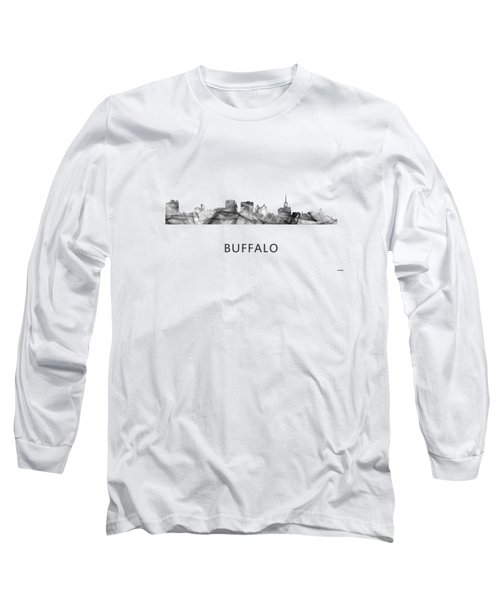 Buffalo New York Skyline Long Sleeve T-Shirt