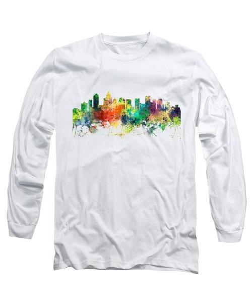 Charlotte Nc Skyline Long Sleeve T-Shirt by Marlene Watson