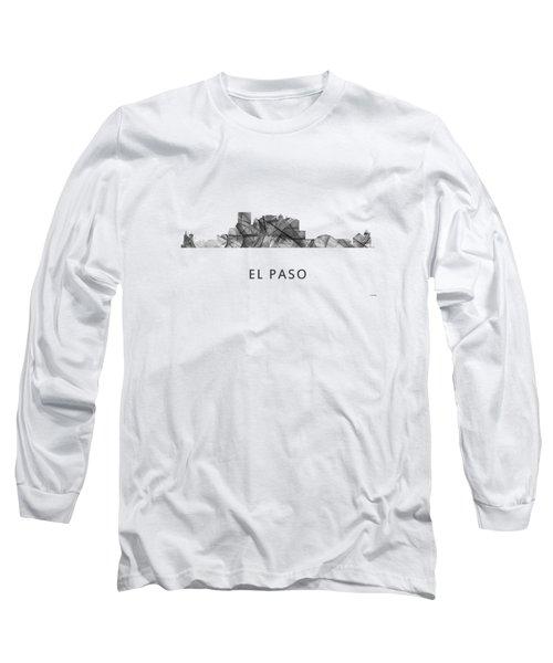 El Paso Texas Skyline Long Sleeve T-Shirt by Marlene Watson