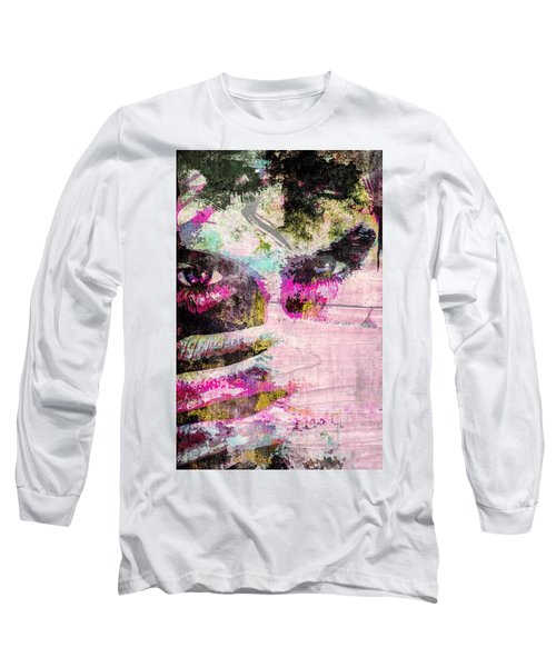 Long Sleeve T-Shirt featuring the mixed media Ian Somerhalder by Svelby Art