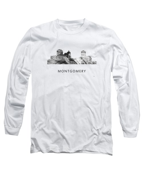 Montgomery Alabama Skyline Long Sleeve T-Shirt by Marlene Watson