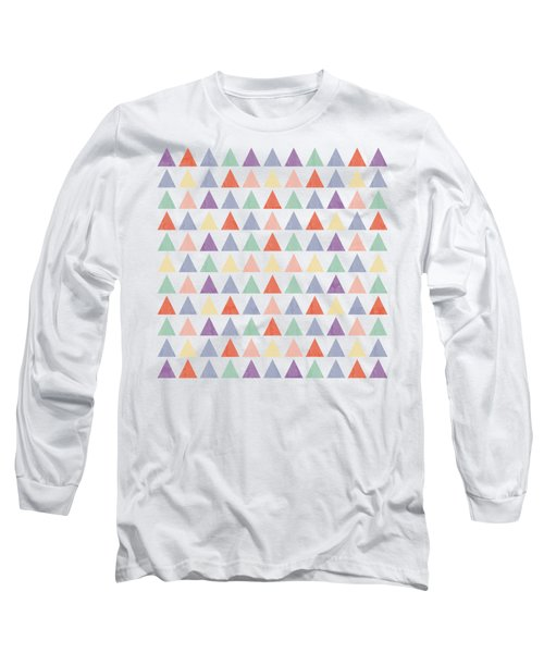Colorful Geometric Background Long Sleeve T-Shirt