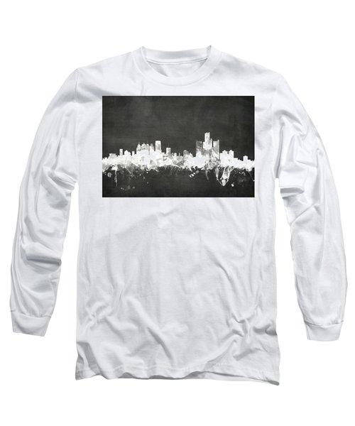Detroit Michigan Skyline Long Sleeve T-Shirt