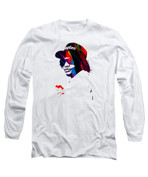 Eazy E Straight Outta Compton Long Sleeve T-Shirt by Marvin Blaine