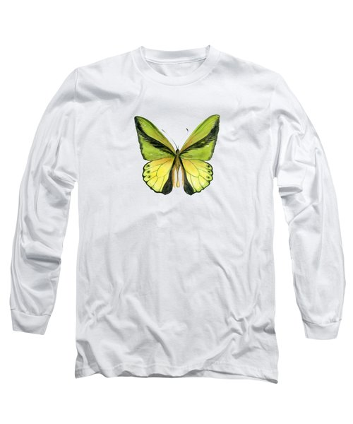 8 Goliath Birdwing Butterfly Long Sleeve T-Shirt