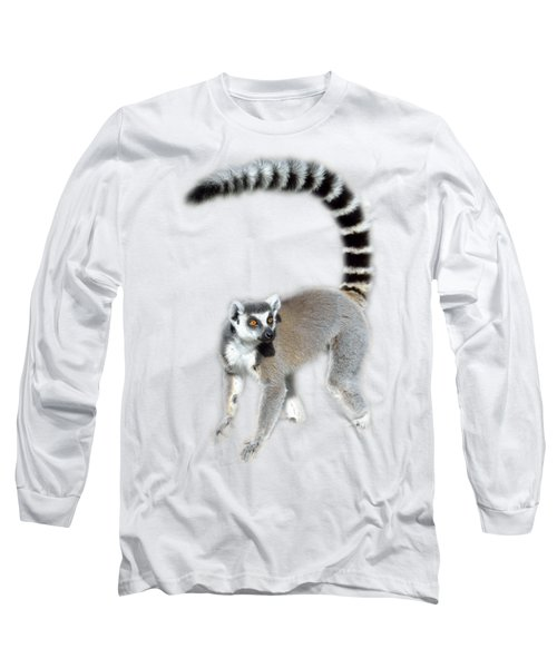 Long Sleeve T-Shirt featuring the photograph Ring Tailed Lemur by George Atsametakis