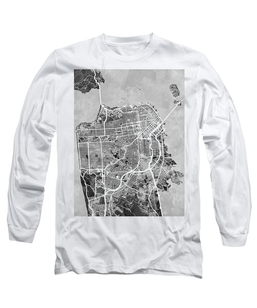 San Francisco City Street Map Long Sleeve T-Shirt