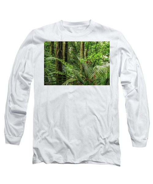 Long Sleeve T-Shirt featuring the photograph Tropical Jungle by Les Cunliffe