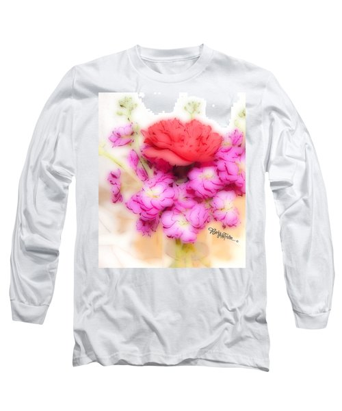 #8742 Soft Flowers Long Sleeve T-Shirt by Barbara Tristan