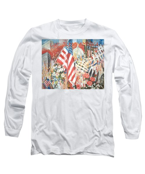 9-11 Attack Long Sleeve T-Shirt by Alexandra Maria Ethlyn Cheshire