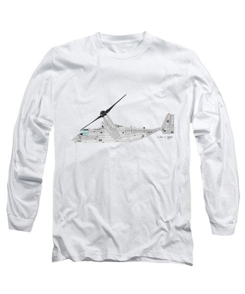 Bell-boeing Mv-22b Osprey Long Sleeve T-Shirt