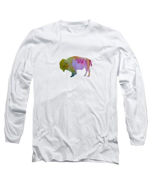 Bison Long Sleeve T-Shirt by Mordax Furittus