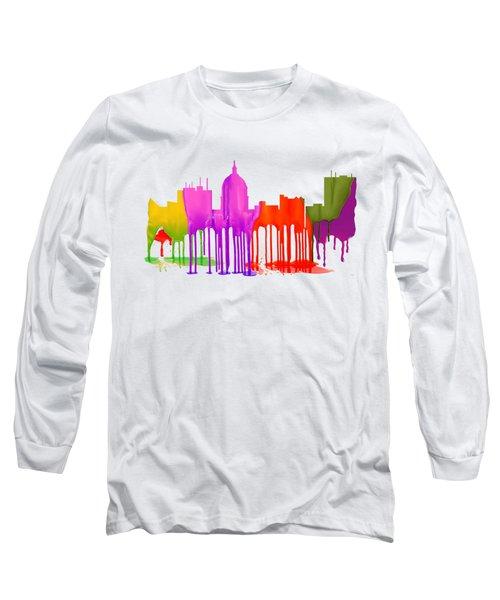 Boise Idaho Skyline Long Sleeve T-Shirt