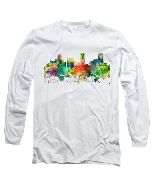 Denver Colorado Skyline Long Sleeve T-Shirt