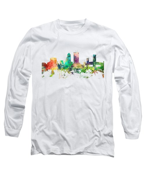 Jacksonville Florida Skyline Long Sleeve T-Shirt