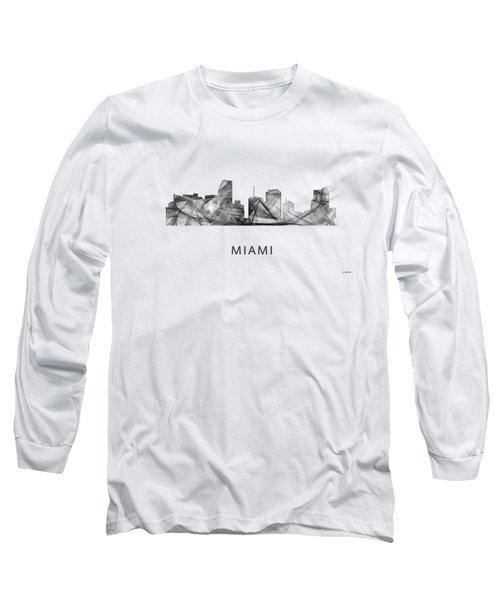 Miami Florida Skyline Long Sleeve T-Shirt