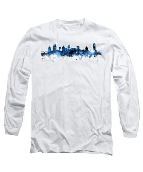 Nashville Tennessee Skyline Long Sleeve T-Shirt by Michael Tompsett