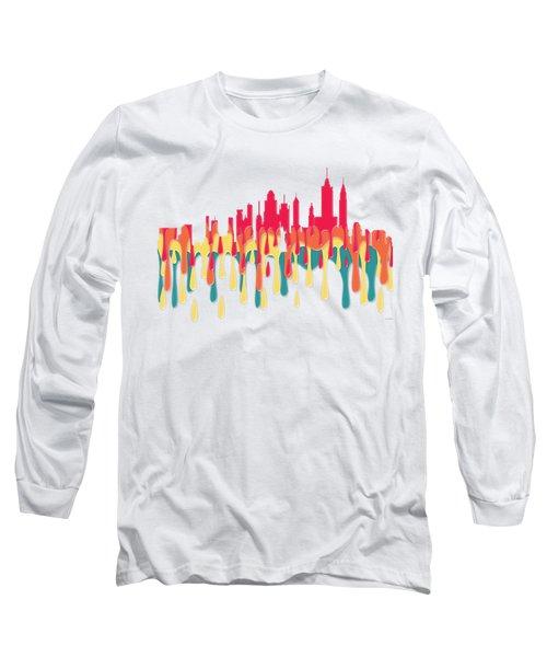 New York New York Skyline Long Sleeve T-Shirt