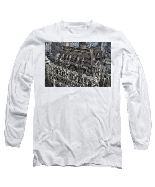 90 West - West Street Building Long Sleeve T-Shirt by Dyle Warren