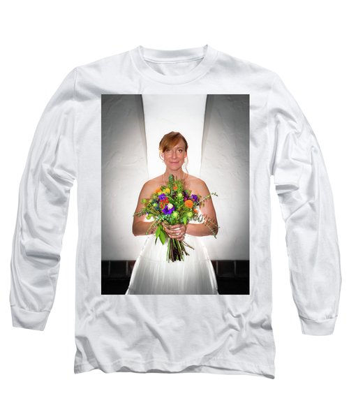 A Beautiful Backlit Bride And Her Bouquet Long Sleeve T-Shirt