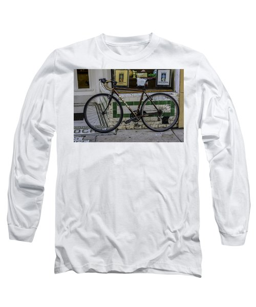 A Bicycle In The French Quarter, New Orleans, Louisiana Long Sleeve T-Shirt