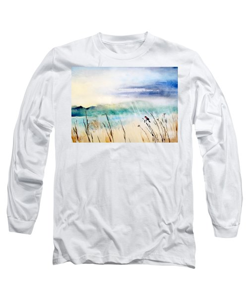 A Bird In Swamp Long Sleeve T-Shirt by Yoshiko Mishina