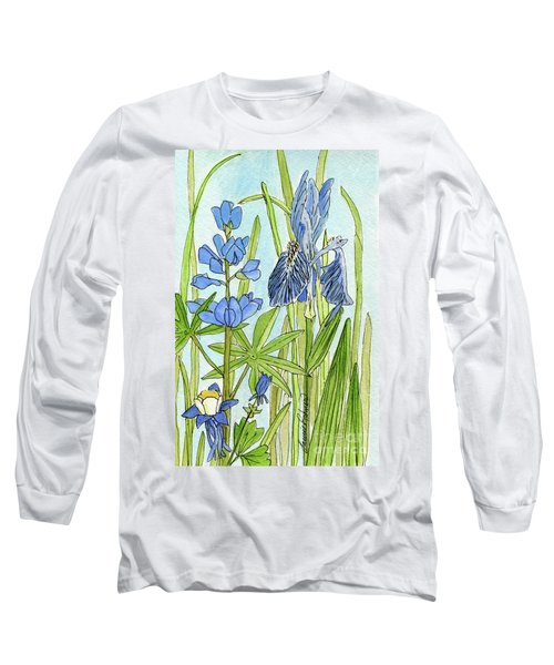 A Blue Garden Long Sleeve T-Shirt