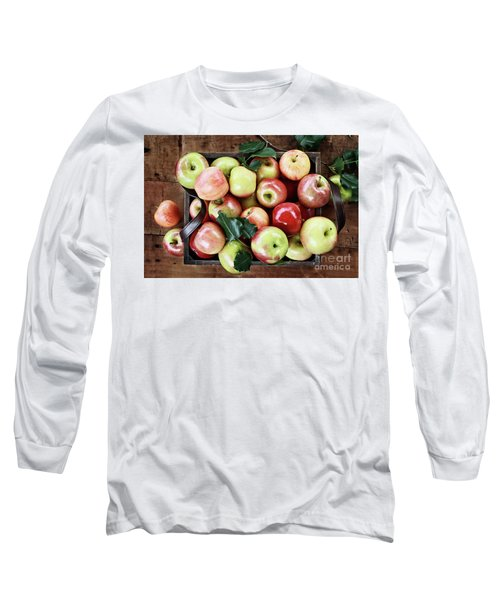 Long Sleeve T-Shirt featuring the photograph A Bushel Of Apples  by Stephanie Frey