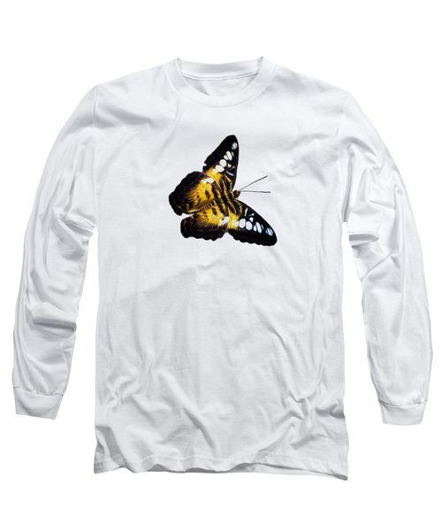 A Butterfly In The Forest Long Sleeve T-Shirt by Mark Andrew Thomas