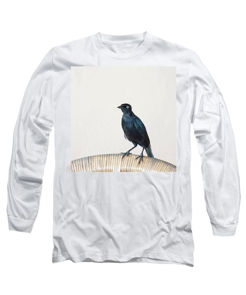 A Carib Grackle (quiscalus Lugubris) On Long Sleeve T-Shirt