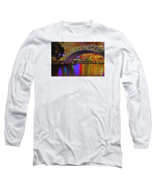 A Casa Rio Christmas On The Riverwalk Long Sleeve T-Shirt