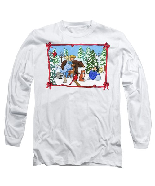 A Christmas Scene 2 Long Sleeve T-Shirt by Sarah Batalka