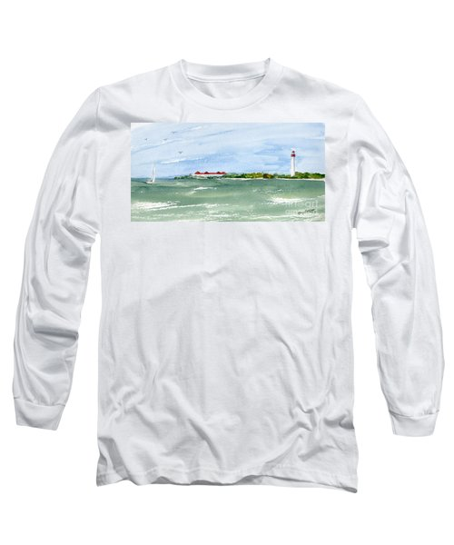 A Clear Day At Cape May Point  Long Sleeve T-Shirt