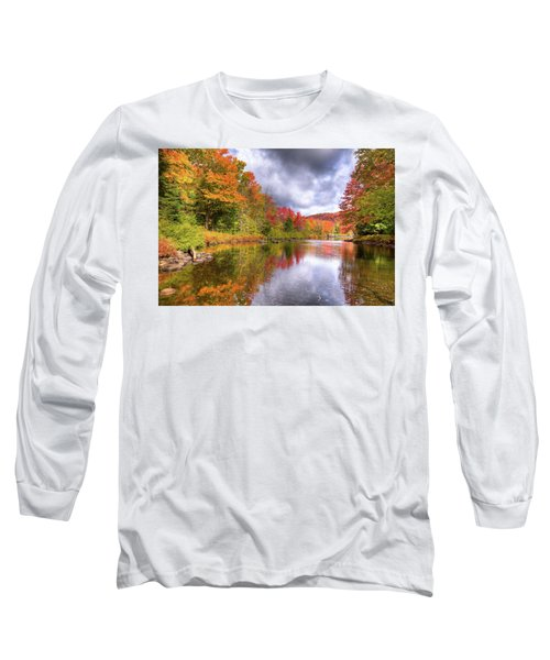 A Cloudy Autumn Day Long Sleeve T-Shirt by David Patterson