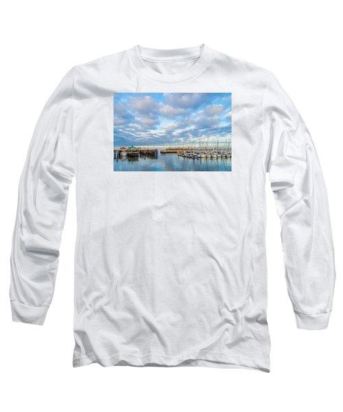 A Cloudy Day In Monterey Long Sleeve T-Shirt by Derek Dean