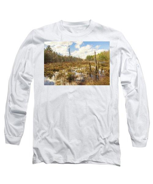 A Connecticut Marsh Long Sleeve T-Shirt
