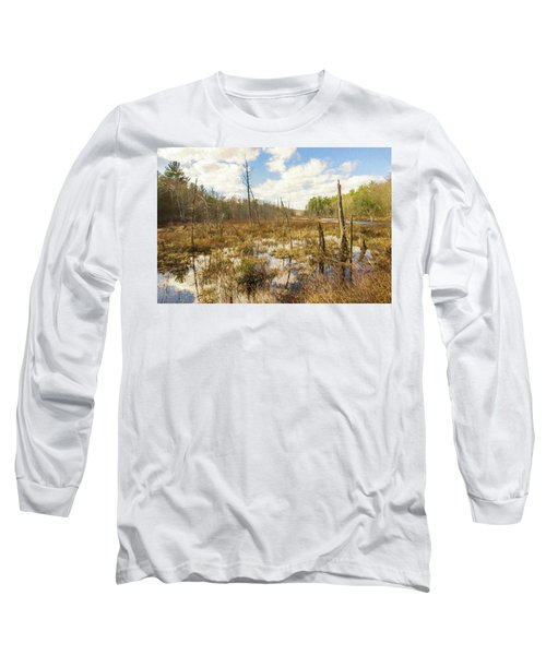 A Connecticut Marsh Long Sleeve T-Shirt
