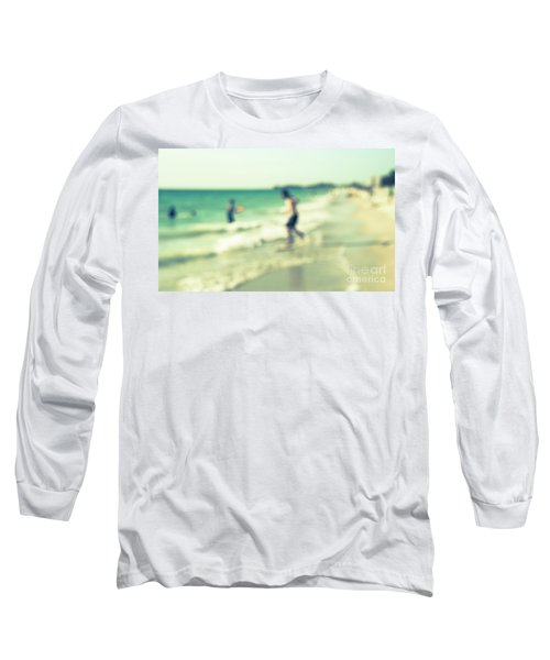 Long Sleeve T-Shirt featuring the photograph a day at the beach III by Hannes Cmarits