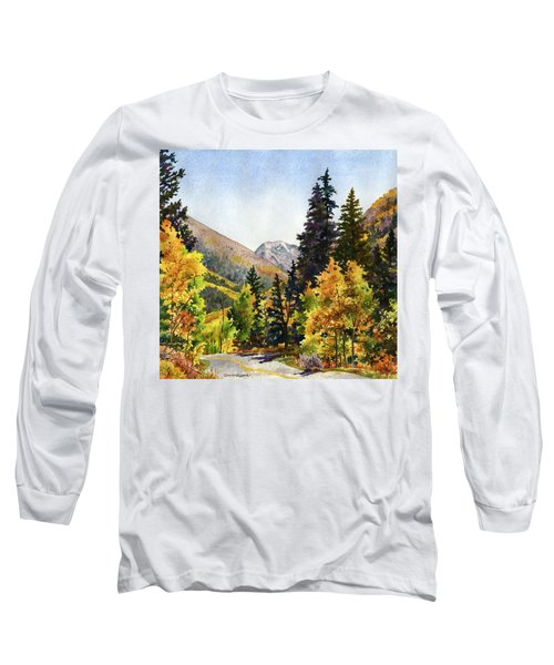 A Drive In The Mountains Long Sleeve T-Shirt by Anne Gifford