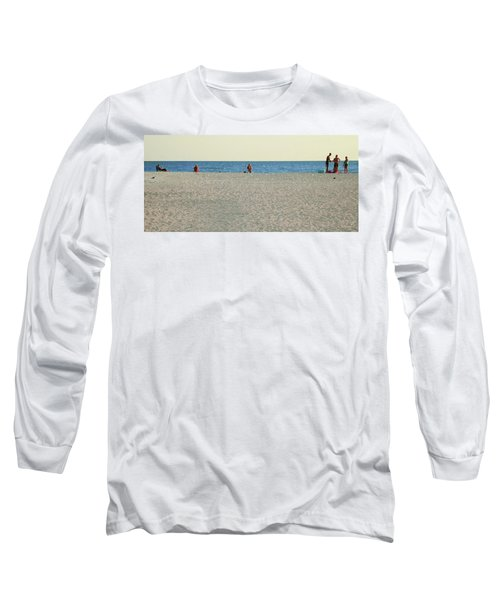 Long Sleeve T-Shirt featuring the photograph A Fine Day At The Beach by Ginny Schmidt