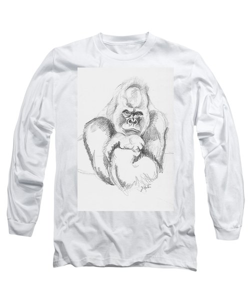 A Friendly Gorilla Long Sleeve T-Shirt by John Keaton