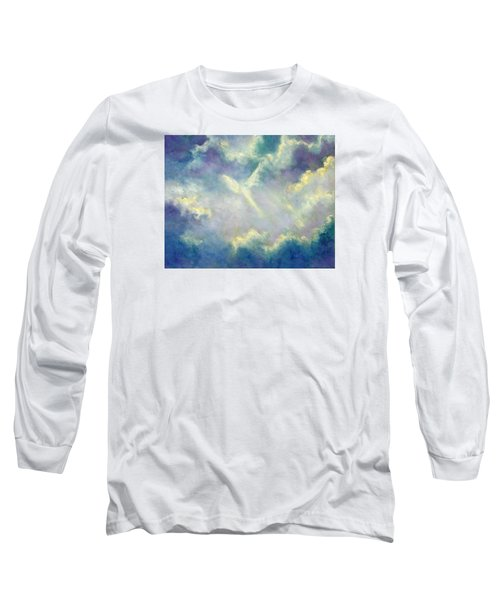 Long Sleeve T-Shirt featuring the painting A Gift From Heaven by Marina Petro
